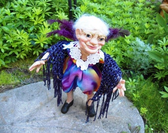Garden Fairy Aunt Sophia HANDMADE Sprite Faerie Fairy Doll