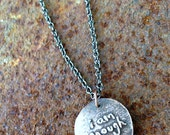 i am enough long chain necklace artisan copper clay affirmation jewelry brene brown