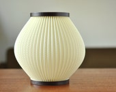 Danish Mid Century Lamp Shade - White and Pleated