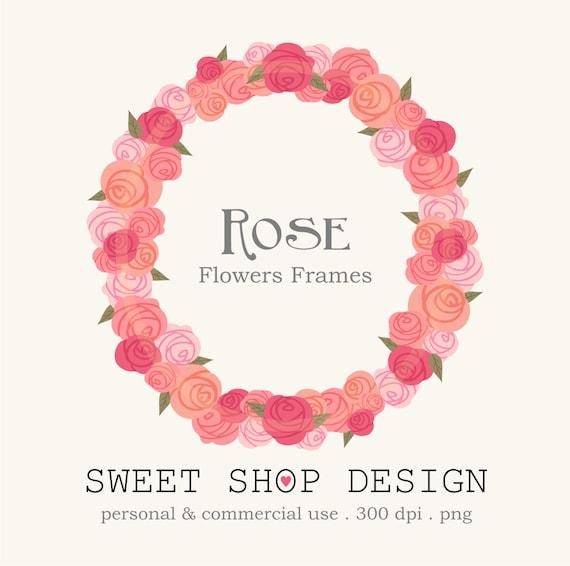 Rose clip art flower border clip art frames royalty free clip art il570xn mightylinksfo