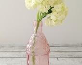 Vintage Wheaton Pastel Pink Pontil Mark Bottle Shabby Chic Cottage Style Home Decor