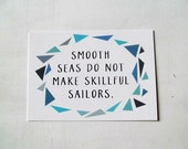 Skillful Sailors Postcard