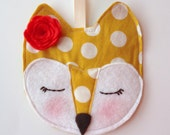 PERSONALIZED Fox ornament, Baby's first Christmas, Nursery Decor