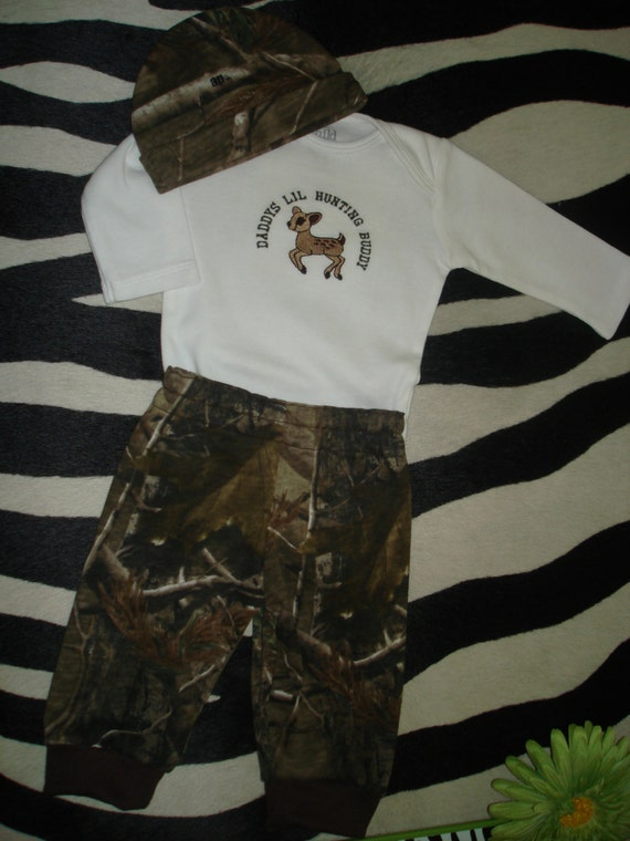 Infant Baby Hunting Real Tree Ap Camo Deer Hunter Newborn