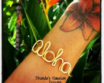 Aloha Wire Word Bracelet