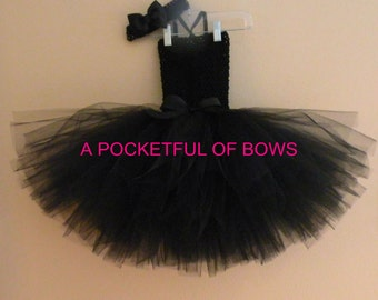 Black Tutu Dress, Birthday Tutu Costume, Halloween Black Tutu