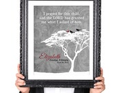 PERSONALIZED ADOPTION Quote Wall Art Print, Adoption Gift, Bird Silhouette, Family Tree Print, Gray 8x10