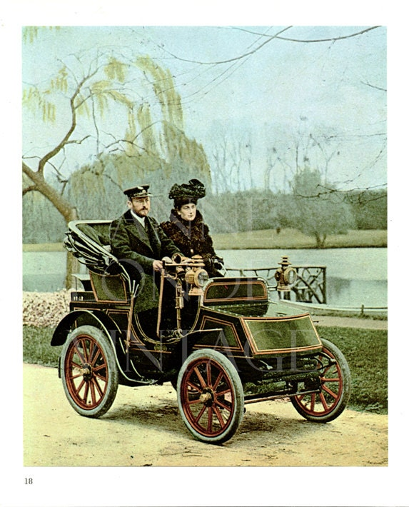 Old Steam Car Print Antique Automobile Photograph VIntage Car