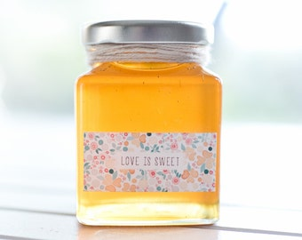70 x 110ml small square glass jars - White / Black / Gold / Silver lids - DIY wedding favours / Bomboniere / Bonbonniere