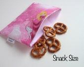 Princess Print Eco-Friendly Reusable Snack & Sandwich Bag