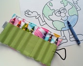 Crayon Roll Birds  -- Great Party Favors