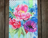 Summer Flowers--original floral artwork