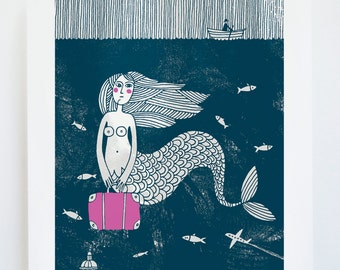 Runaway - Original hand-pulled screenprint - Water based inks - Limited edition