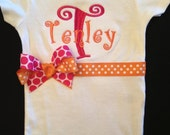 Custom Personalized Monogrammed Onesie ...Bodysuit  for BaBy GiRl