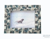 Gray Mosaic Picture Frame