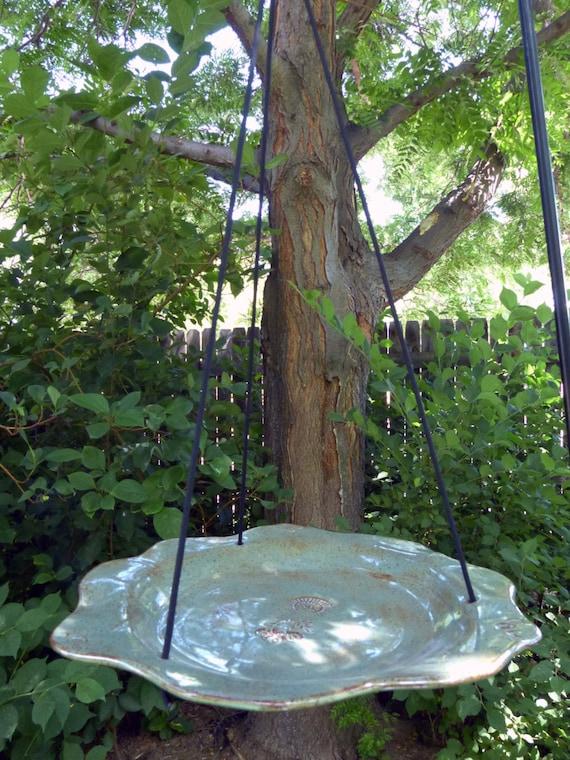 Hanging Ceramic Bird Feeder Bird Bath By Claywychstudio