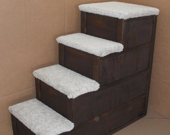 30 Inch Tall 5 Step Pet Stairs Bed Step By Mikeduffe On Etsy