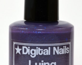 Lying: Digital Nails Saga inspired thermochromic teal to purple, color changing heat sensitive nail polish