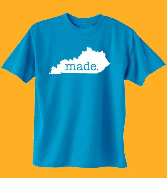 Kentucky made t shirt mens womensjuniors tee shirts size for Custom t shirts lexington ky