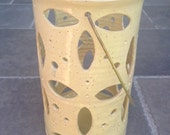 Hand Carved Ceramic Lantern