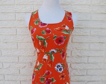 Long Floral Tank Top Hawaiian Dress