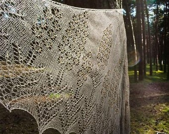 Woman linen wrap shawl with beads