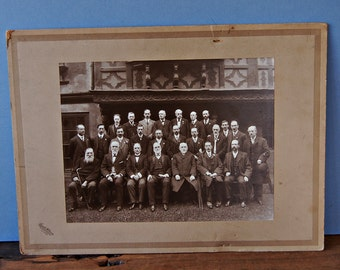 1911 photo of Welsh National Temperance Choir , Welsh male choir photo Edwardian men in suits