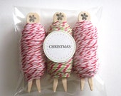 Bakers Twine Christmas 3 pack - Divine Twine Peppermint and Holiday