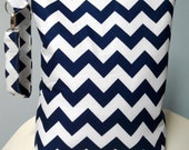 Wet Bag Stand Up Large Navy Chevron Zipper Personalize Handle for Children Babies Toddlers Diaper Bag Pouch Shower Gift Waterproof Swim Bag