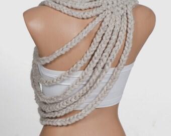 STONE Crochet Scarf. Valentine holiday scarf. Winter scarf. Trend Neckwarmer. Valentine scarf.