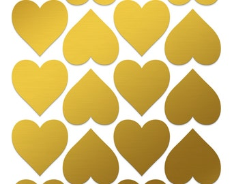 1 inch gold heart stickers | 20pc wedding heart stickers | 1 inch heart labels | Gold wedding decorations | Gold 1 inch stickers