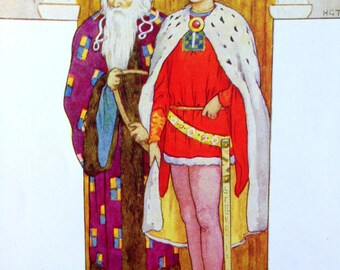 1930s GALAHAD KING ARTHUR Knights of the Round Table By Harry G Theaker Print Perfect for Framing