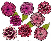 Flowers Clip Art for Personal and Small Commercial Use