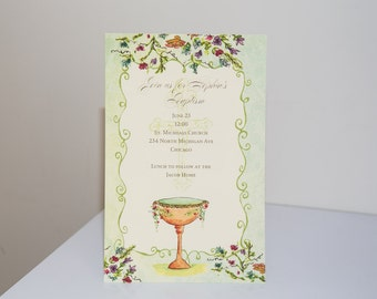 BAPTISM - COMMUNION INVITATIONS -  All Copy and Fonts Personalized