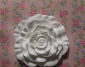 Chipped or flawed Shabby Cottage Chic Large Single Rose Furniture Architectural Applique Onlay Reduced Price