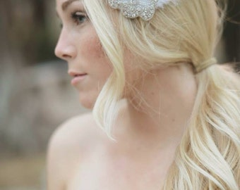 Feather Fascinator, Wedding Hair Piece, Bridal Hair Piece