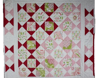 Pink Diamonds - Baby Girl Quilt ON SALE