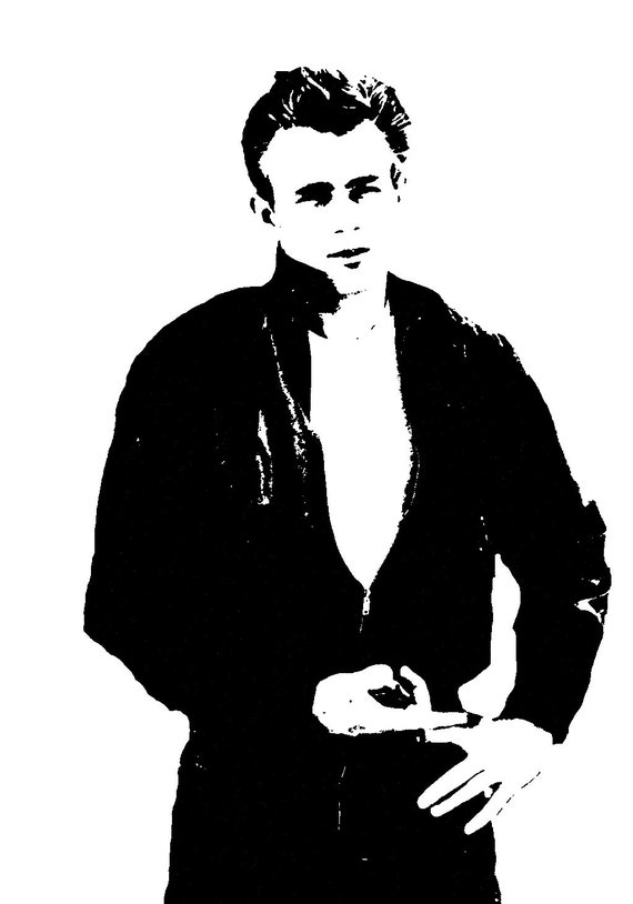 james dean black and white painting - photo #16