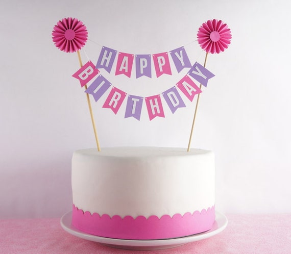 Birthday Cake Bunting Banner