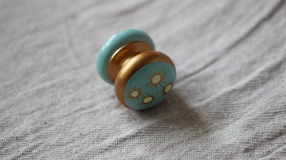 Gold & Turquoise Knob