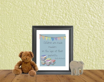Children's Wall Art - Library Art - Children's Quotes - Educational School Decoration - Classroom Decoration