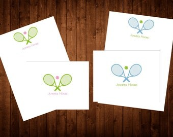 Note Card: Tennis Flat or Folded Notecards set of 10