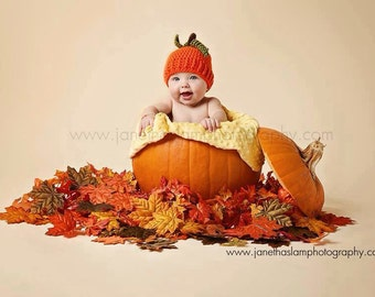 Newborn Crochet Pumpkin Hat fall photo prop newborn baby pumpkin fall harvest