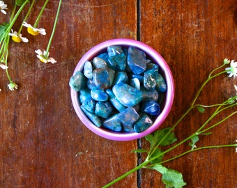 Medium Chrysocolla Tumbled Gemstone Polished Blue Green Healing Crystal Meditation Stone Pocket Rock MIneral Specimen Throat Chakra