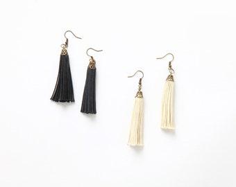Rustic Tassel Earrings