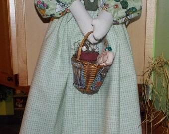 Raggedy Doll, Garden Bag Lady, Folk, Country, Rag Doll