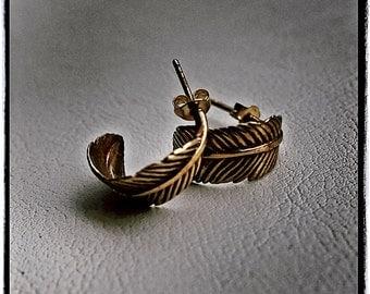 Brass 'Icarus' Earrings (CLEARANCE)