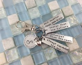 Winnie the Pooh inspired -  Hand stamped Zipper Pull - stronger braver smarter
