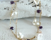 Amethyst And Pearl Neckla...