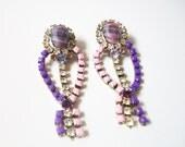 L E L A Purple Earrings